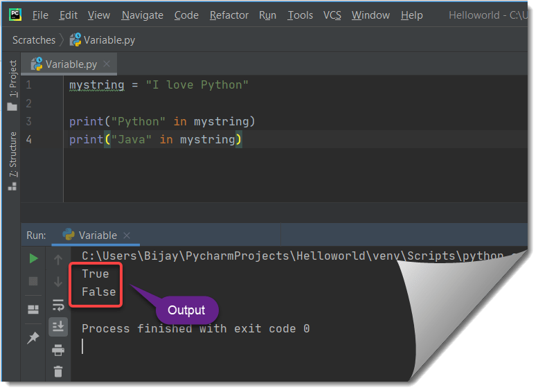 How to check if a python string contains another string