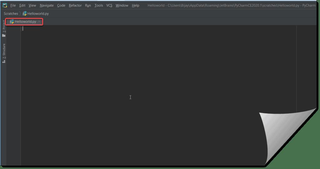 How to create a python hello world program