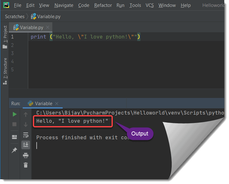 create a string in Python