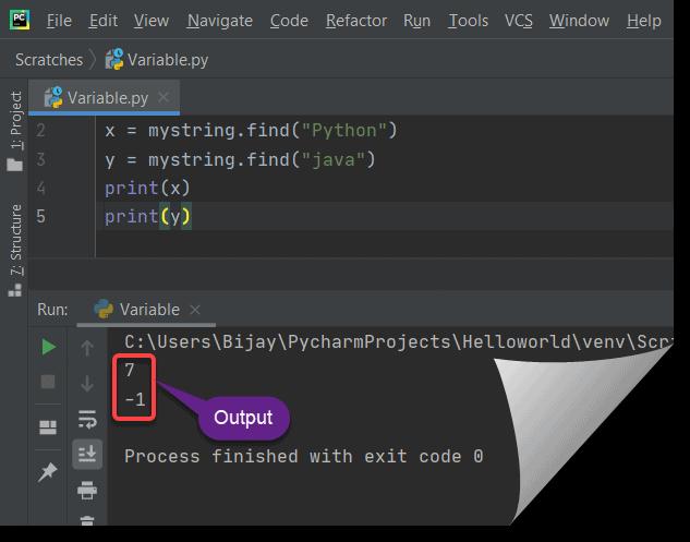 find a string inside a string in python