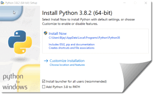 Python download and installation