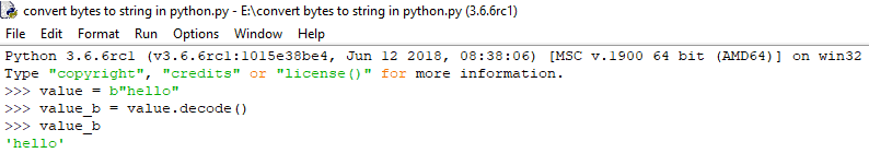 How to convert bytes to string in python