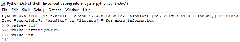 convert string to integer in python