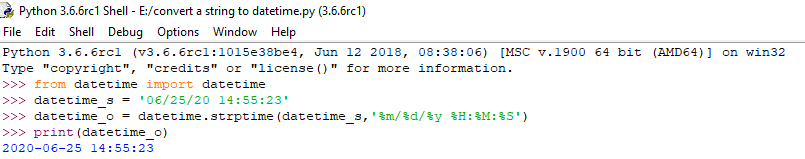 python to convert string to datetime