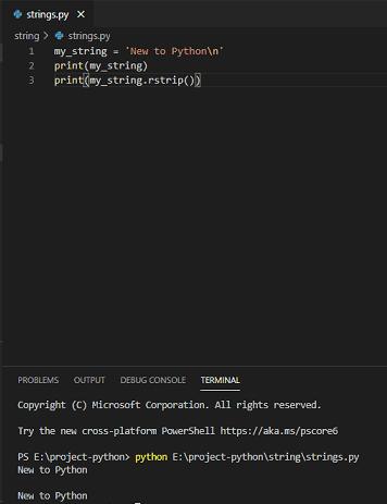 Remove newline from string python