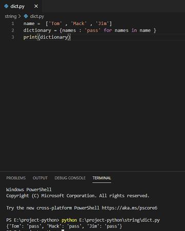 Convert list to dictionary python