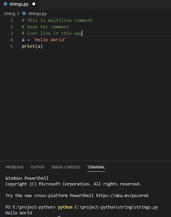 Comment multiple lines python