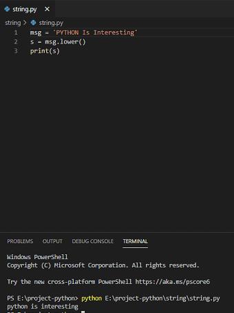 Python string to lowercase