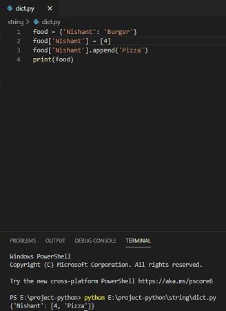 Python dictionary append