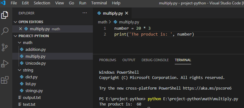 multiply in Python