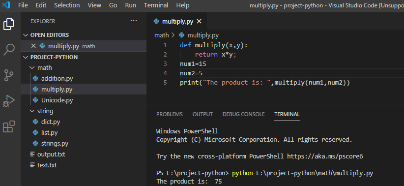 Multiply two numbers using the function in python