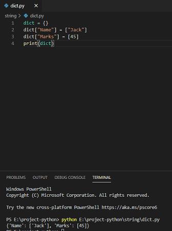 Python dictionary list