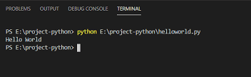 hello world python program