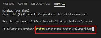 create hello world program in python