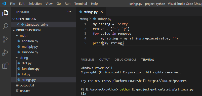 Python replace multiple characters in a string