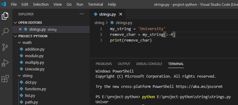 Remove last 4 characters from string python