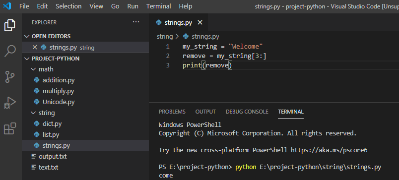 Remove n character from string python