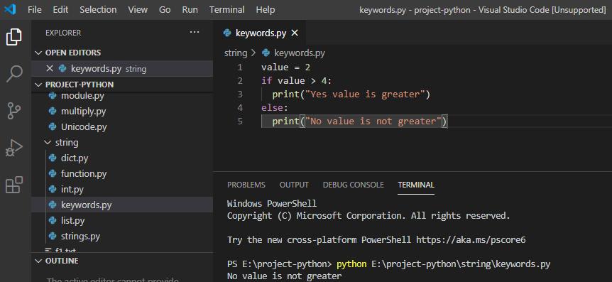 else keyword in python