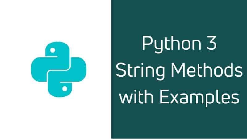 Python 3 string methods