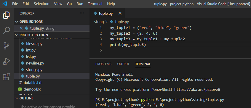 Python Join two tuple