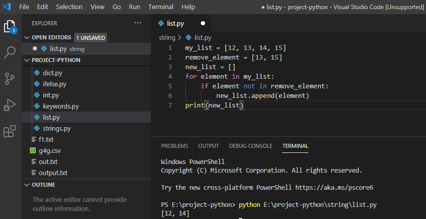 Python remove multiple items from the list