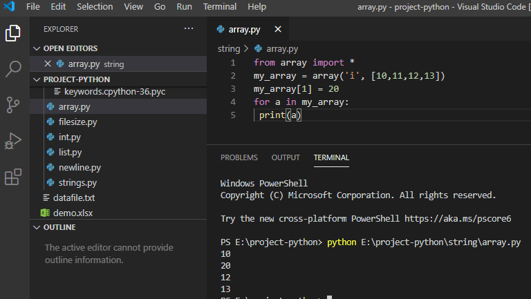 Python update the element in an array