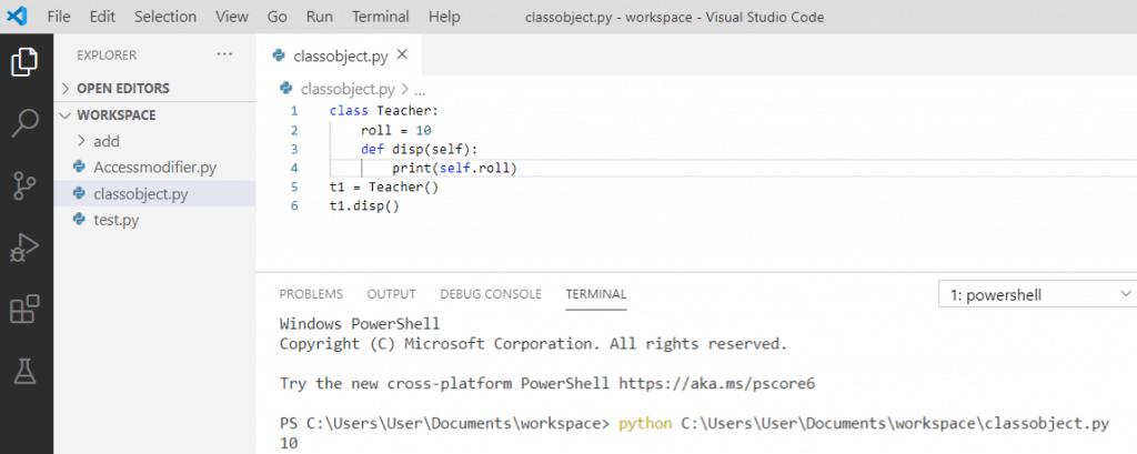 Default constructor in python