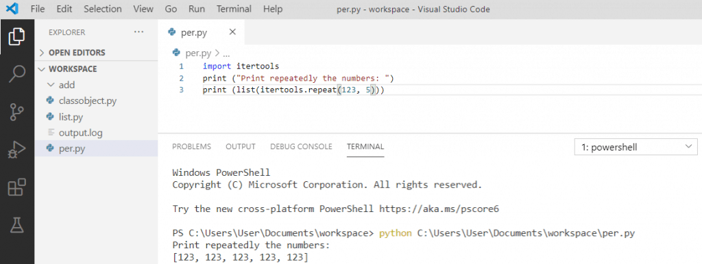 How to repeat in python