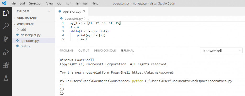 Increment variable in loop python
