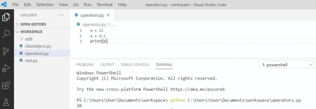 Python Decrement operator