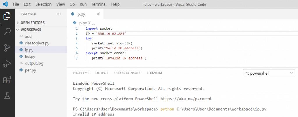 Python IP Address validation
