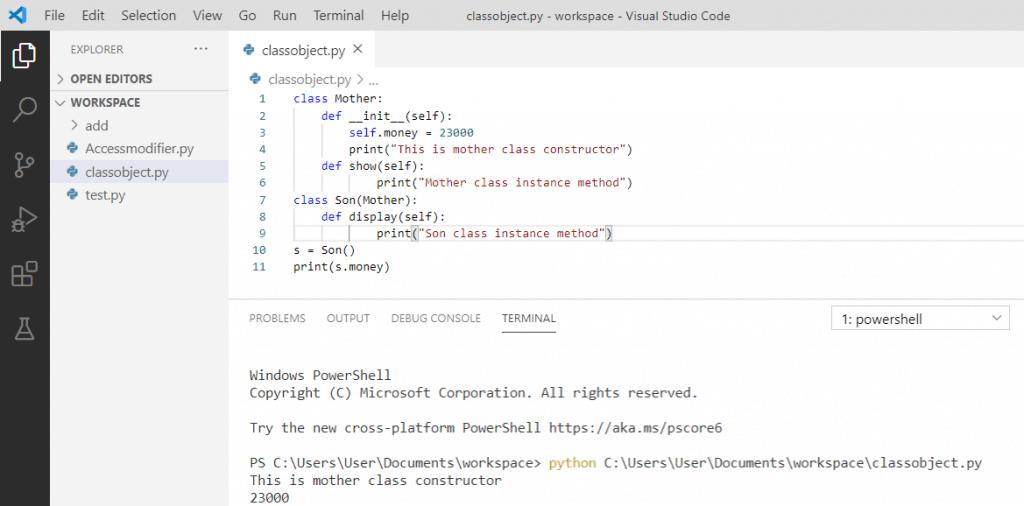 Python constructor inheritance