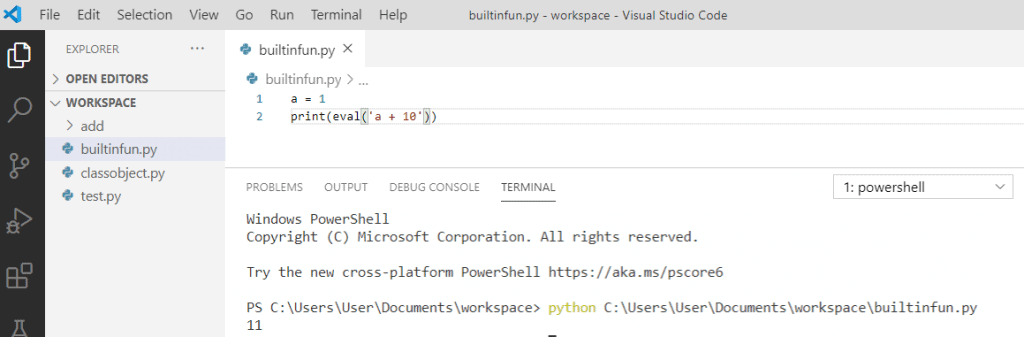 Python eval() function
