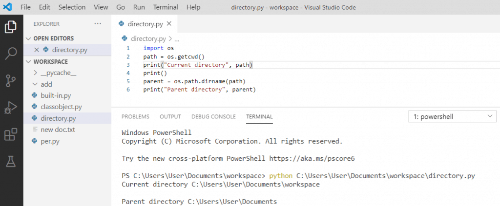 Python get parent of current directory