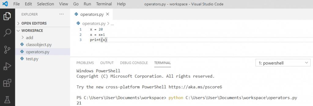 Python increment operator