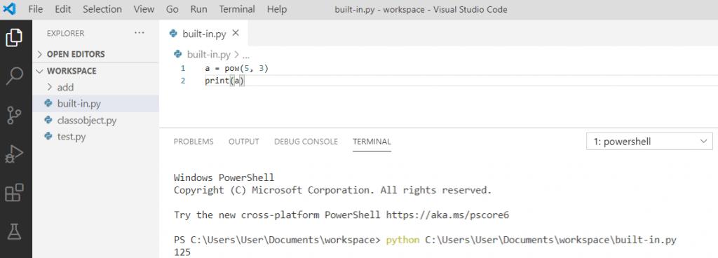 Python pow() function