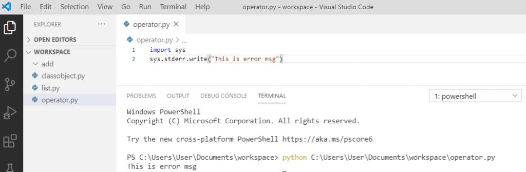 Python print to stderr