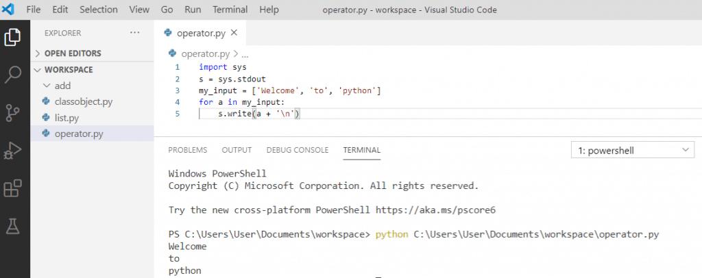 Python stdout