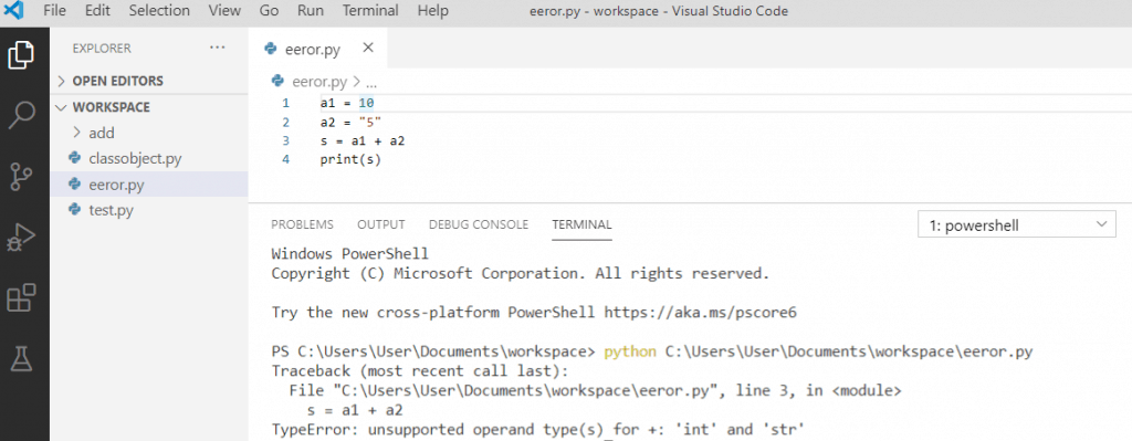 TypeError: unsupported operand type(s) for +: 'int' and 'str'