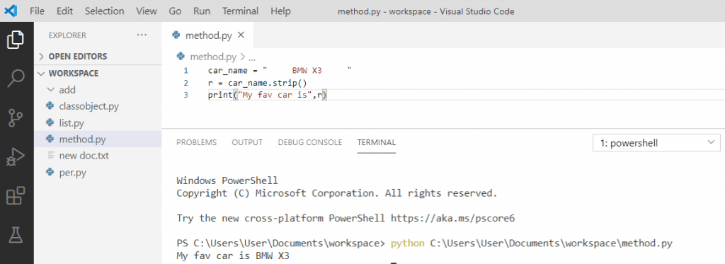 What does strip do in python