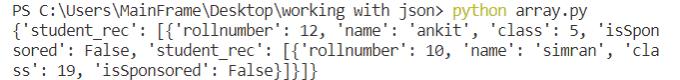 Python write json to file pretty