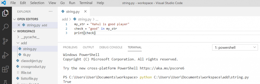 Check if a string contains word in python