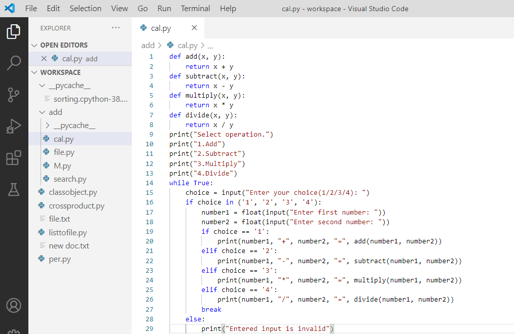 How to make a calculator in Python