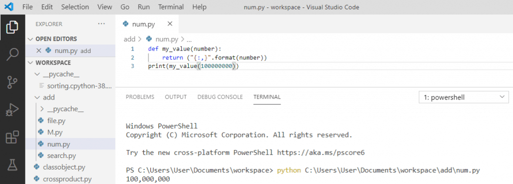 Python add a comma between elements