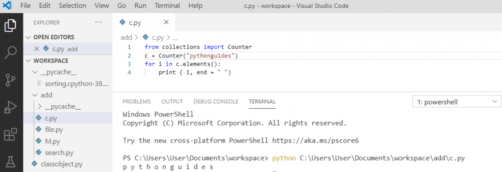 Python counter iterate