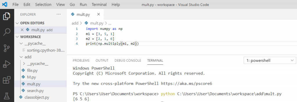 Python element-wise multiplication