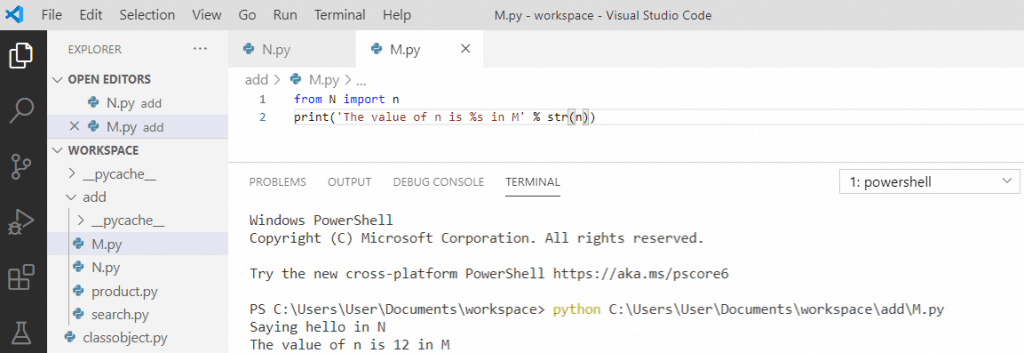 Python import variable from another file