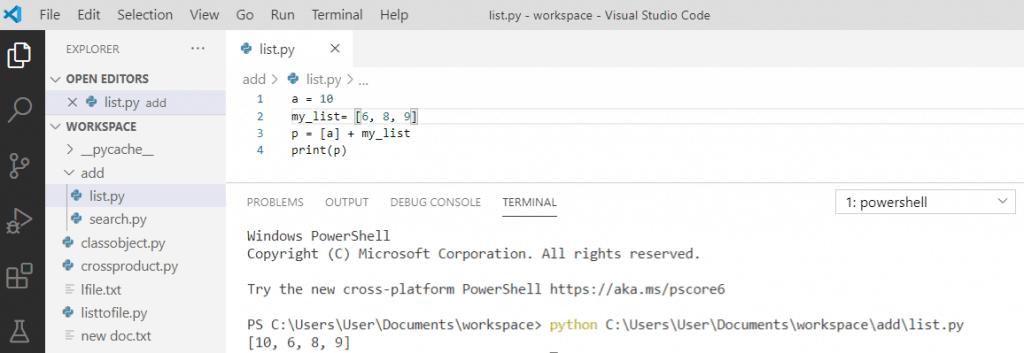 Python prepend to list