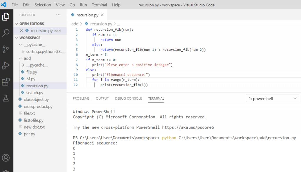 Python recursion Fibonacci