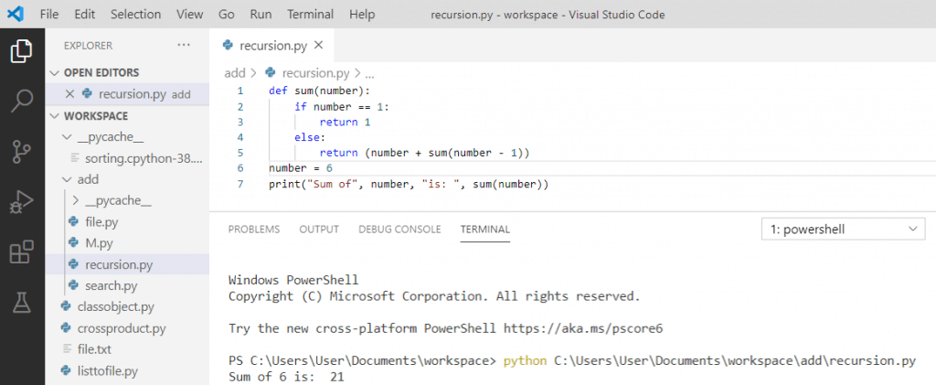 Python recursion examples
